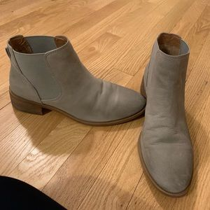 2433b227421 Caslon water resistant blue grey booties